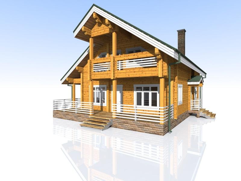 Проекты дом из клееного бруса своими руками 75