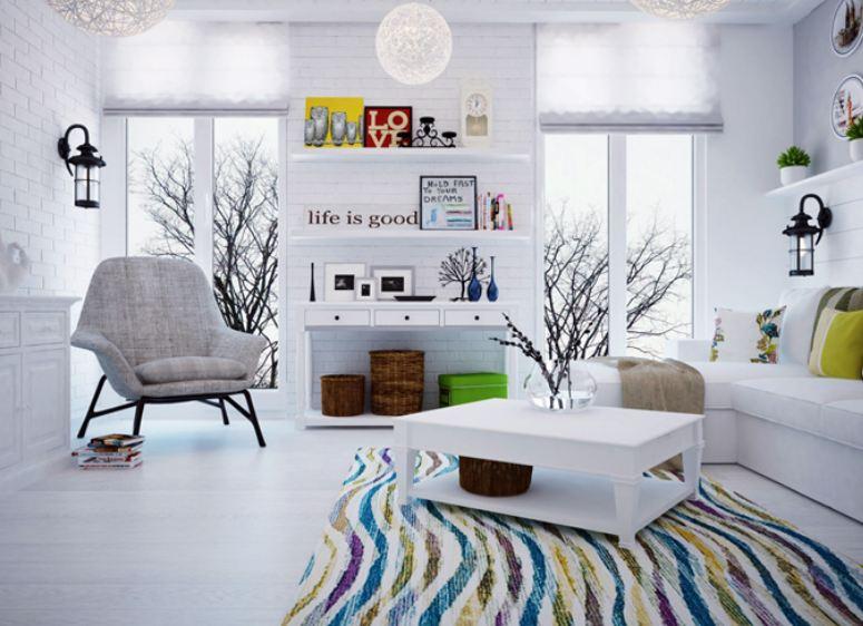 Дизайн гостиной комнаты в скандинавском стиле
