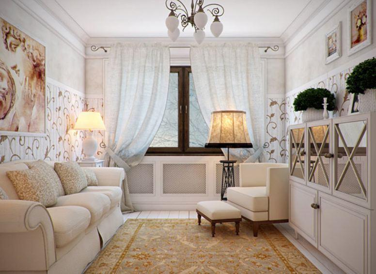 Дизайн зала в провансе
