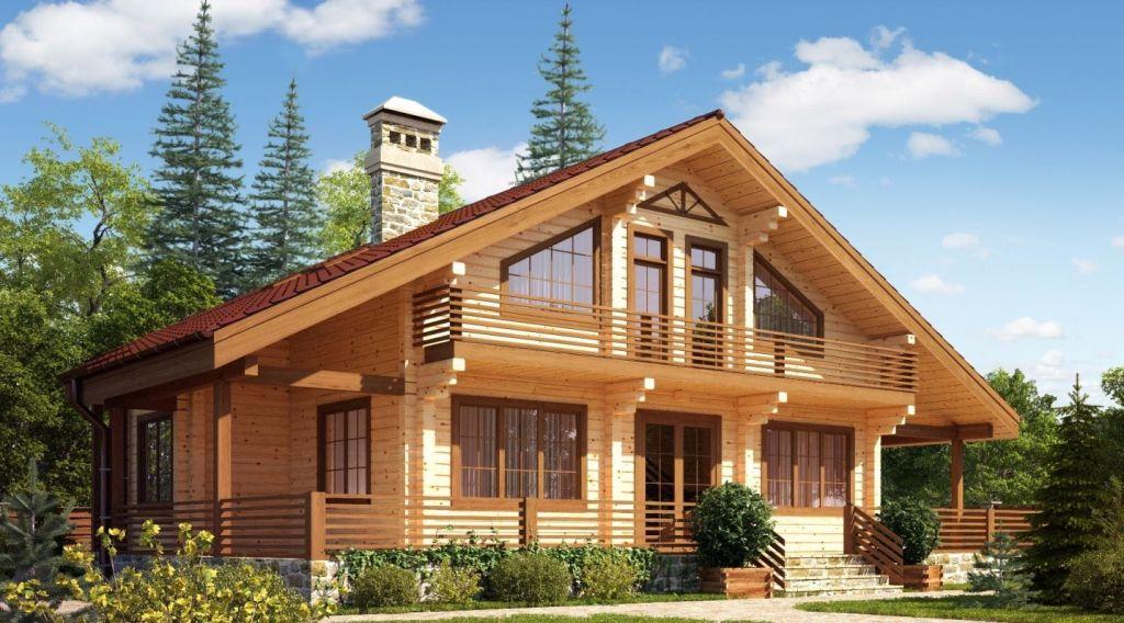 двухэтажные деревянные дома из бруса фото